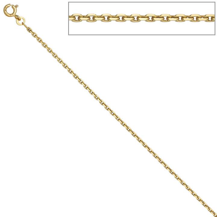 Ankerkette 333 Gelbgold 1,9 mm 42 cm Gold Kette Halskette Goldkette Federring