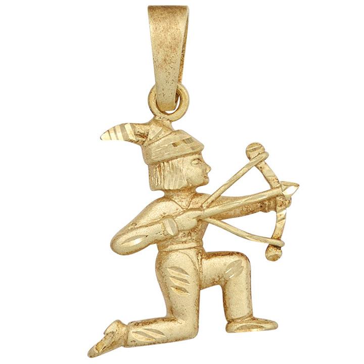 Anhänger Sternzeichen Schütze 585 Gold Gelbgold matt Sternzeichenanhänger