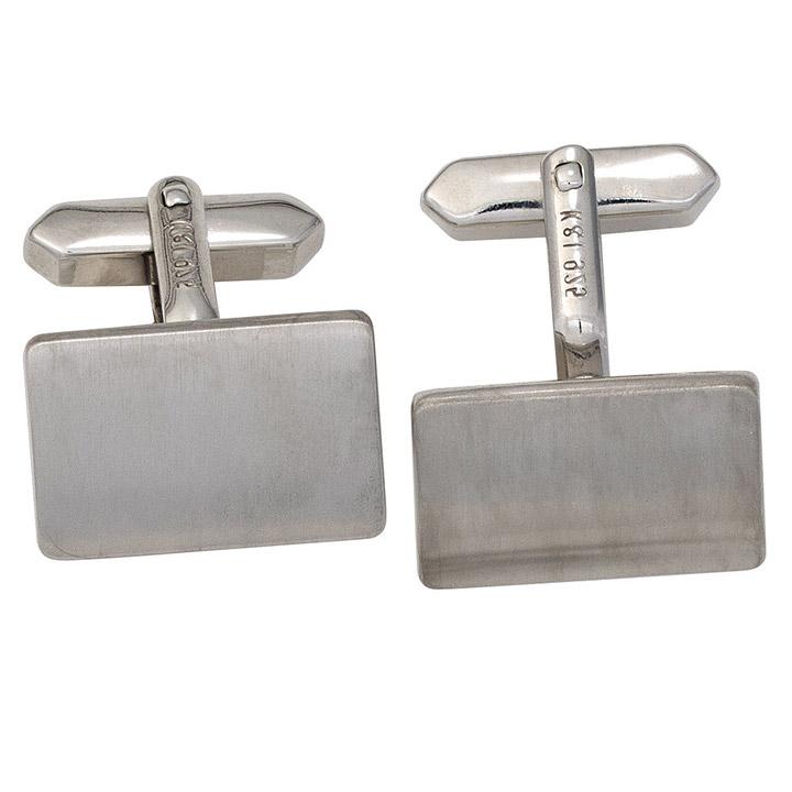 Manschettenknöpfe 925 Sterling Silber rhodiniert mattiert