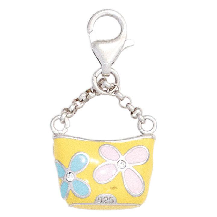 Einhänger Charm Tasche Handtasche 925 Sterling Silber rhodiniert