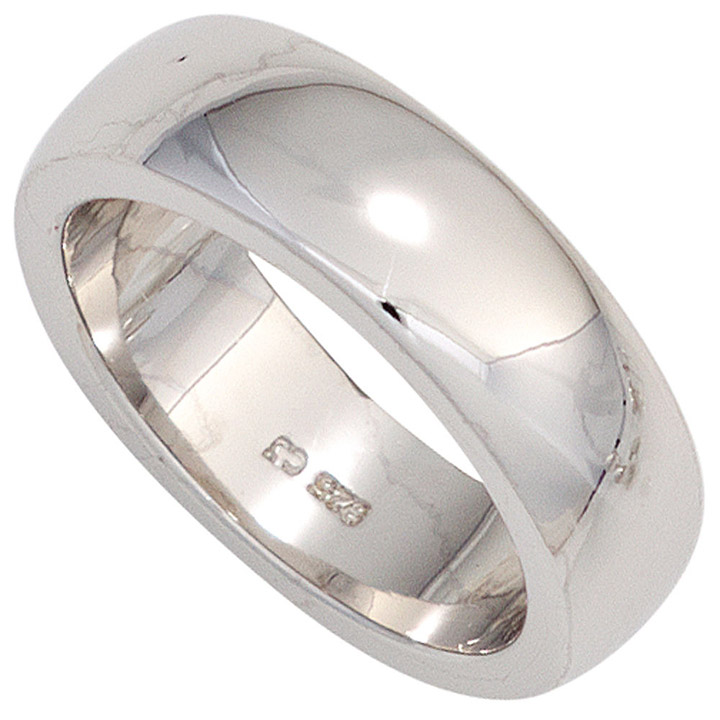 Damen Ring 925 Sterling Silber rhodiniert Silberring