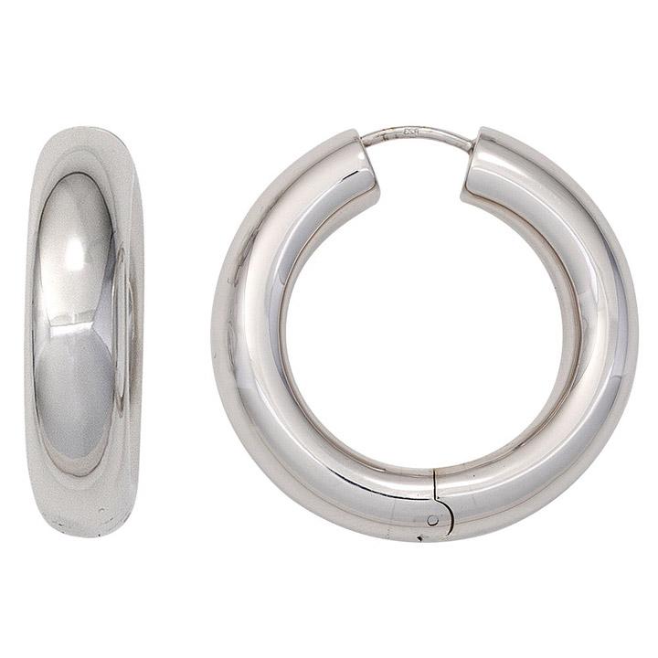 Ohrringe Creolen rund 925 Sterling Silber Ohrringe