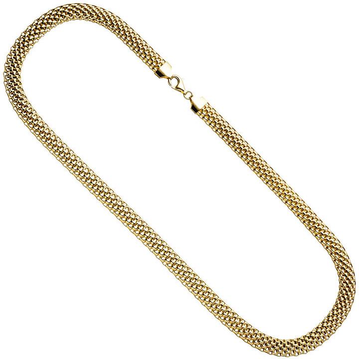 Collier Statement Halskette 925 Sterling Silber gold vergoldet 45 cm Kette