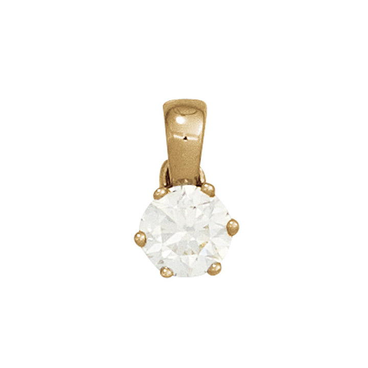 Anhänger 585 Gold Gelbgold 1 Diamant Brillant 0,20ct. Solitär Diamantanhänger