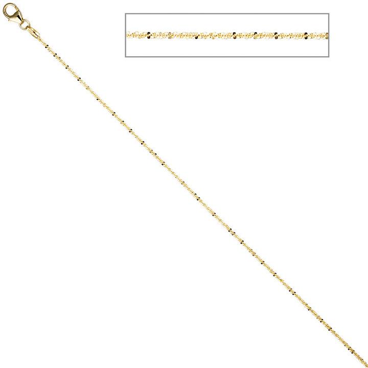 Criss-Cross Kette 333 Gelbgold 1,3 mm 40 cm Gold Halskette Goldkette Karabiner
