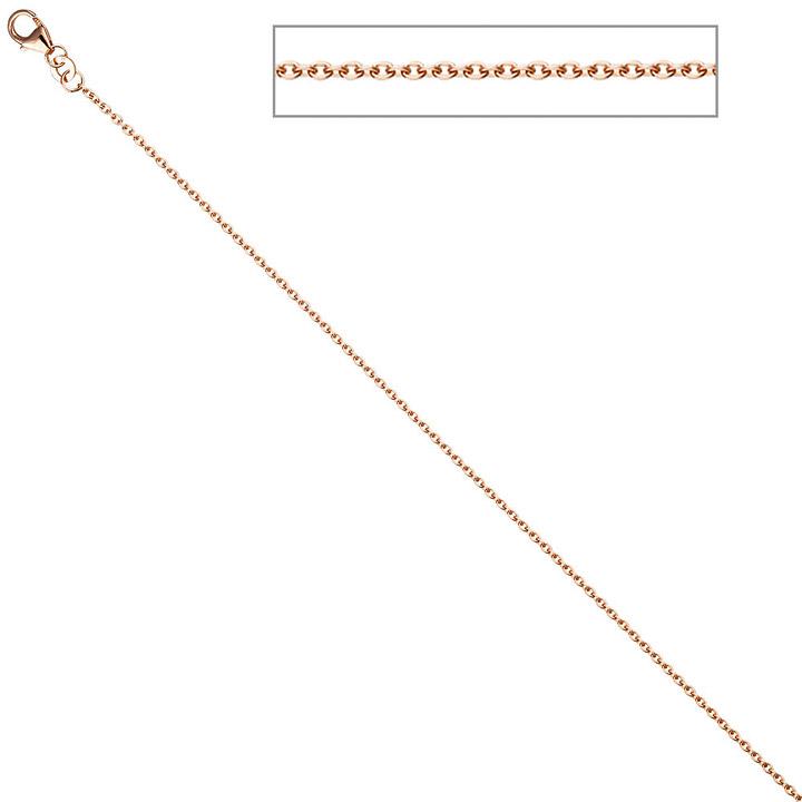 Ankerkette 333 Rotgold 1,4 mm 42 cm Gold Halskette Kette Rotgoldkette Karabiner