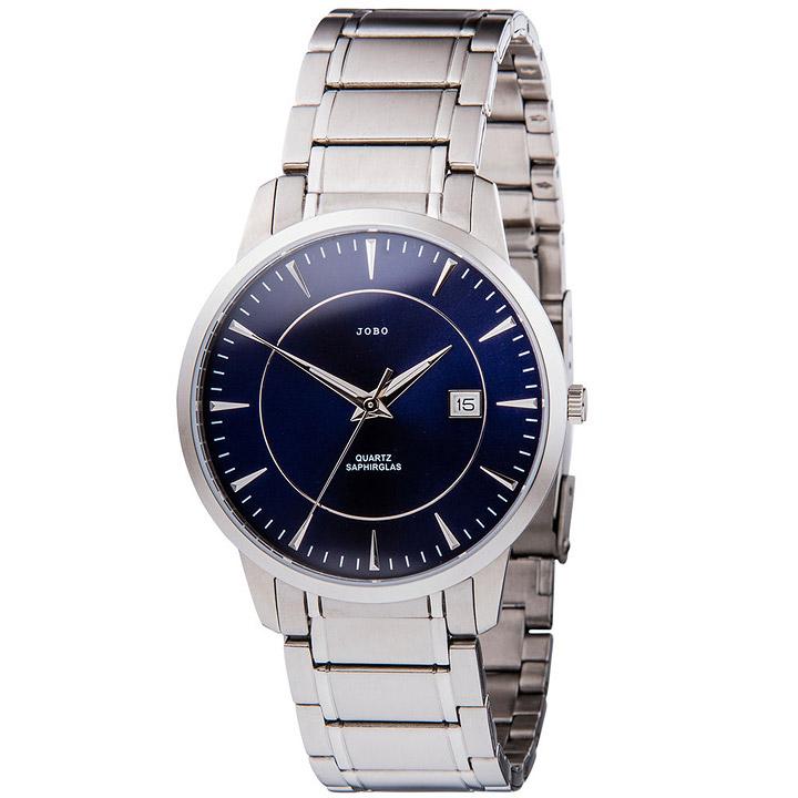 Herren Armbanduhr Quarz Analog Edelstahl Datum Herrenuhr blau