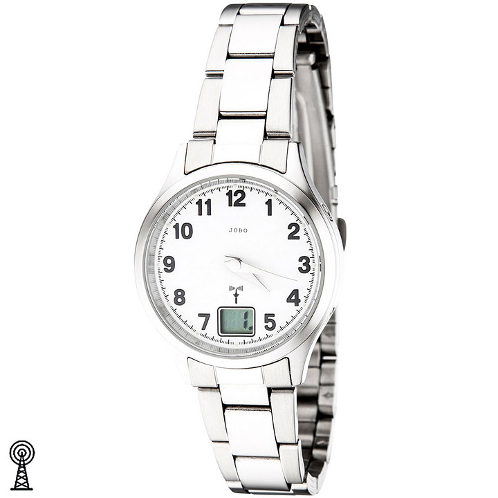 Damen Armbanduhr Edelstahl Datum Mineralglas Damenuhr