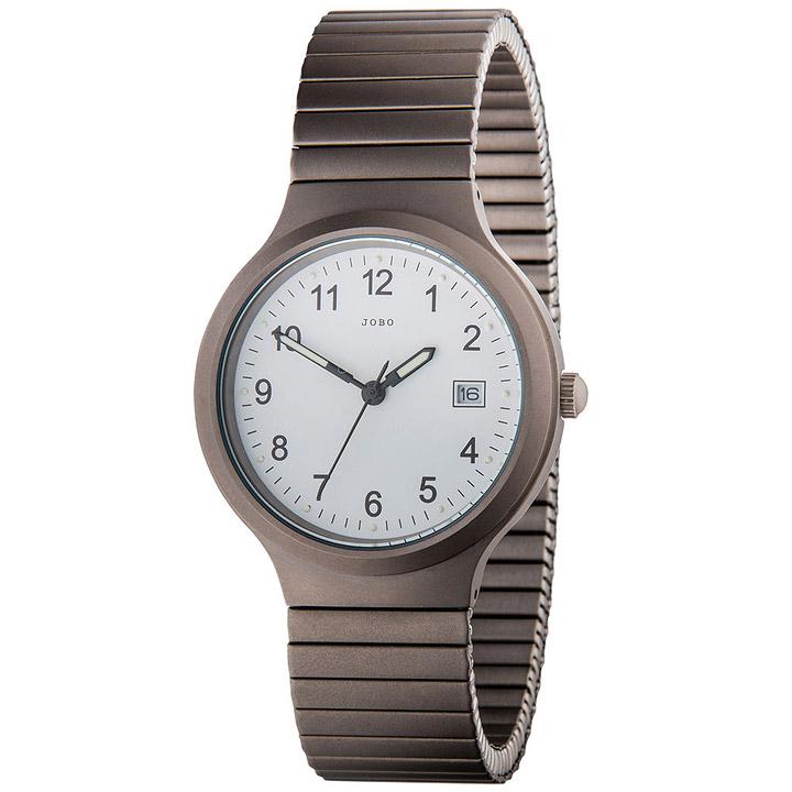 Herren Armbanduhr Quarz Analog Titan Flexband Datum Herrenuhr