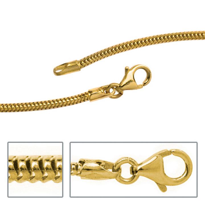 Schlangenkette aus 585 Gelbgold 1,9 mm 42 cm Gold Kette Halskette Goldkette