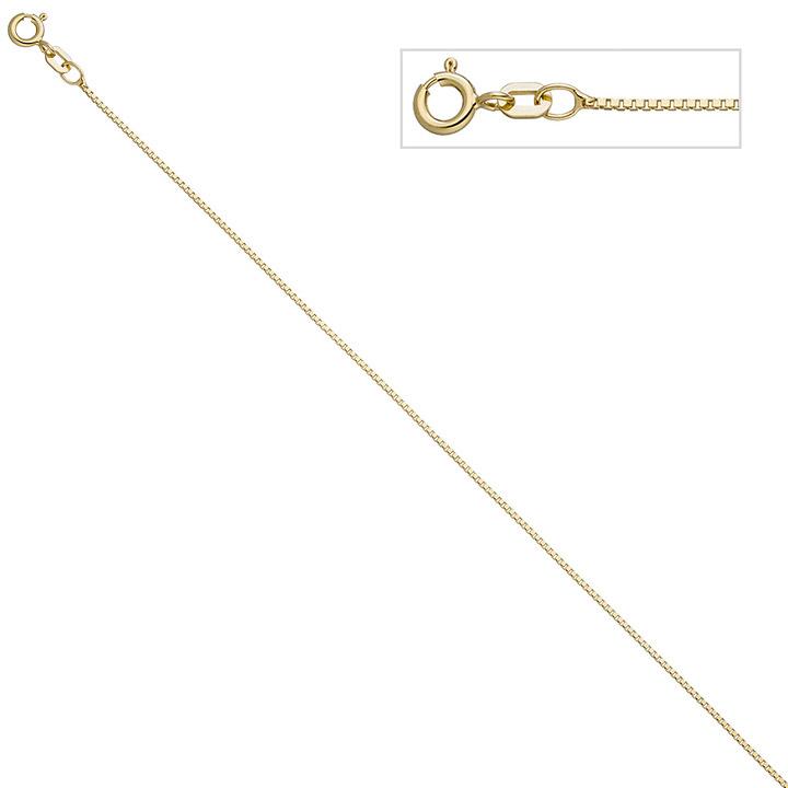 Venezianerkette 925 Sterling Silber gold vergoldet 0,9 mm 50 cm Kette Halskette