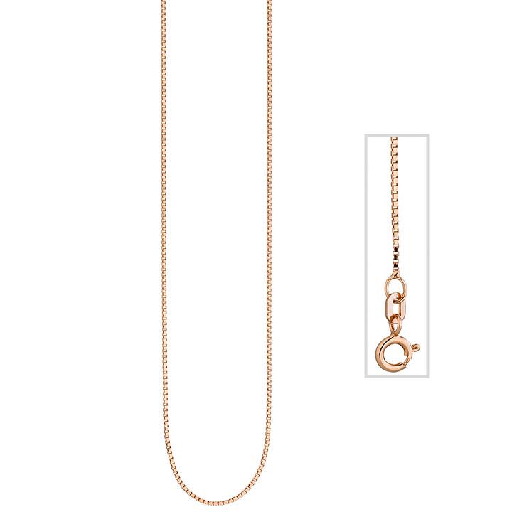 Venezianerkette 925 Silber rotgold vergoldet 0,8 mm 42 cm Kette Halskette
