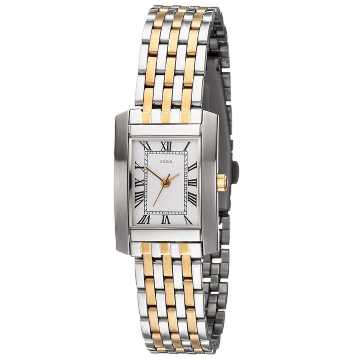 Damen Armbanduhr Quarz Analog Edelstahl bicolor vergoldet Damenuhr