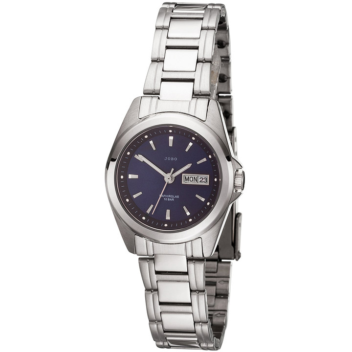 Damen Armbanduhr Quarz Analog Edelstahl Damenuhr mit Datum