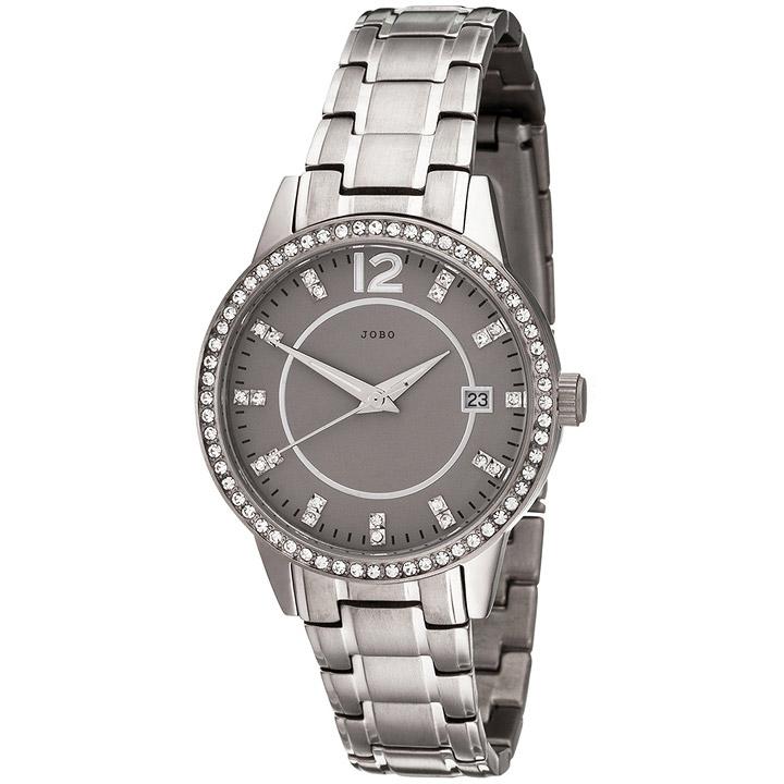 Damen Armbanduhr Quarz Analog Titan mit SWAROVSKI® ELEMENTS Damenuhr Datum