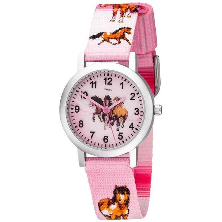 Kinder Armbanduhr Pferde rosa pink Aluminium Kinderuhr Pferdeuhr Mädchenuhr