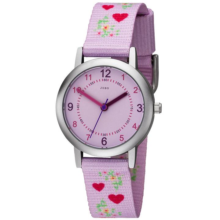 Kinder Armbanduhr Herzen rosa pink Quarz Kinderuhr Mädchenuhr