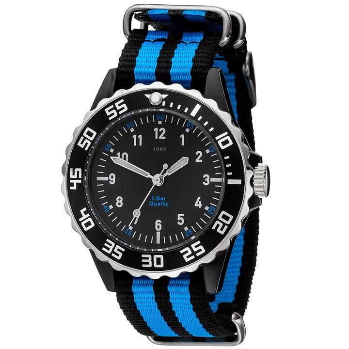 Kinder Armbanduhr Quarz Analog schwarz blau Kinderuhr
