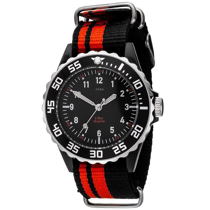 Kinder Armbanduhr Quarz Analog schwarz rot Kinderuhr