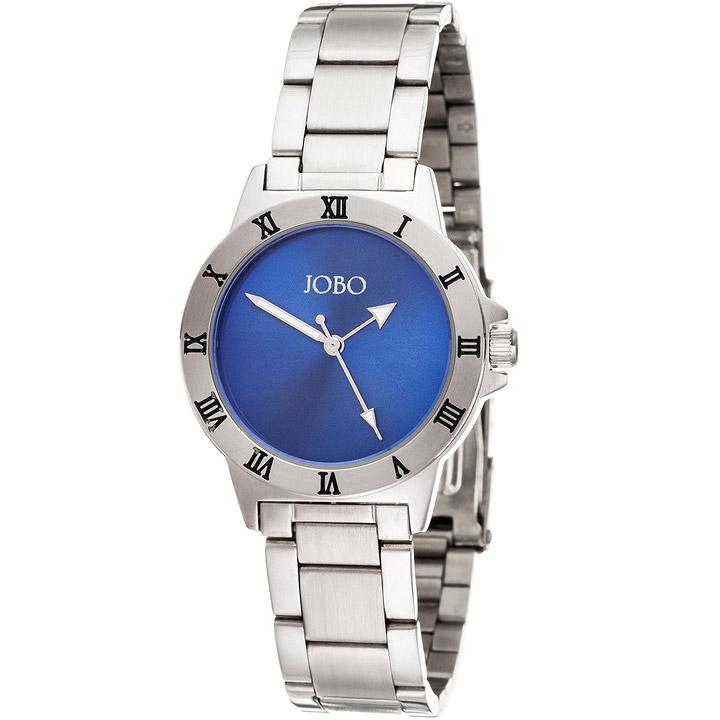 Damen Armbanduhr blau Quarz Analog Edelstahl Damenuhr