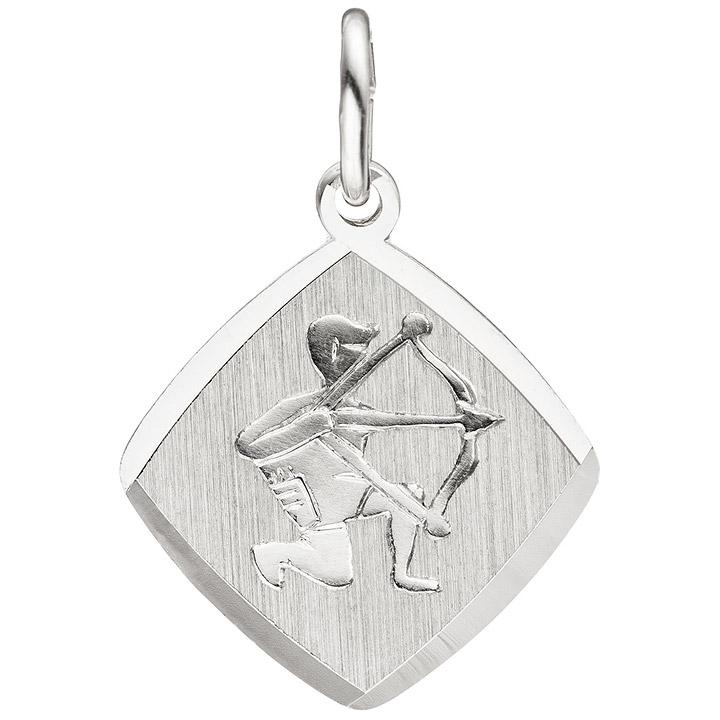 Anhänger Sternzeichen Schütze 925 Sterling Silber matt Sternzeichenanhänger