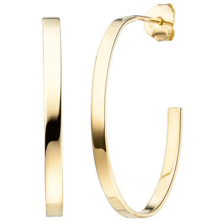 Creolen 925 Sterling Silber gold vergoldet Ohrringe