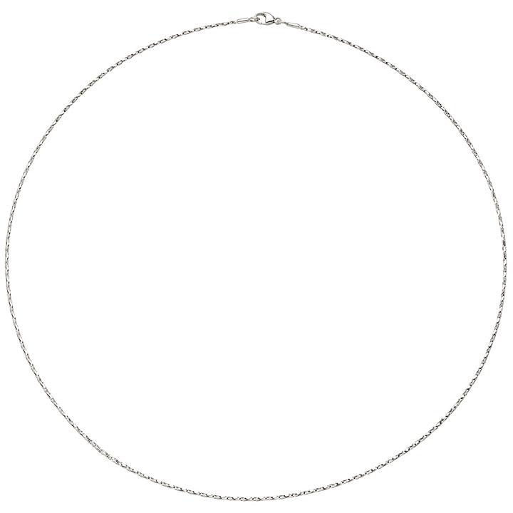 Halsreif Halskette 750 Gold Weißgold diamantiert 1,0 mm 42 cm Kette Weißgoldkett