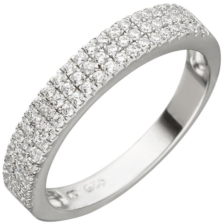 Damen Ring 925 Sterling Silber 69 Zirkonia Silberring
