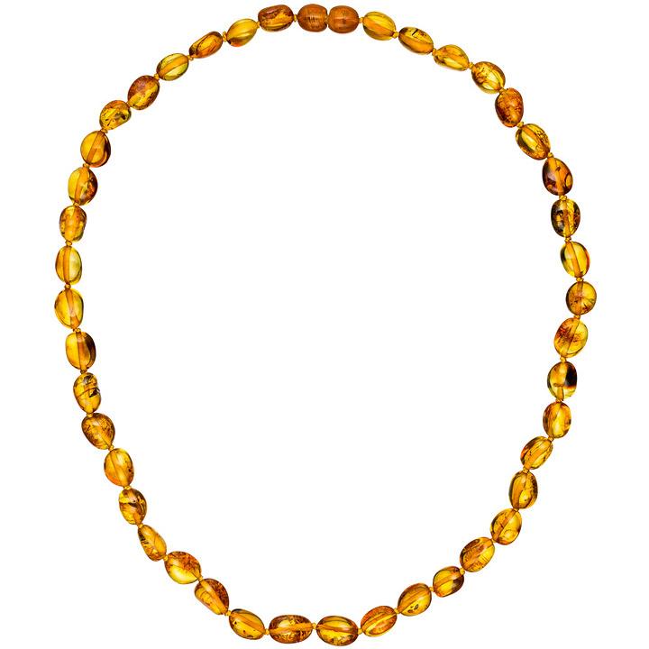 Kette Collier Bernstein Verlauf 45 cm Halskette Bernsteinkette Bernsteincollier