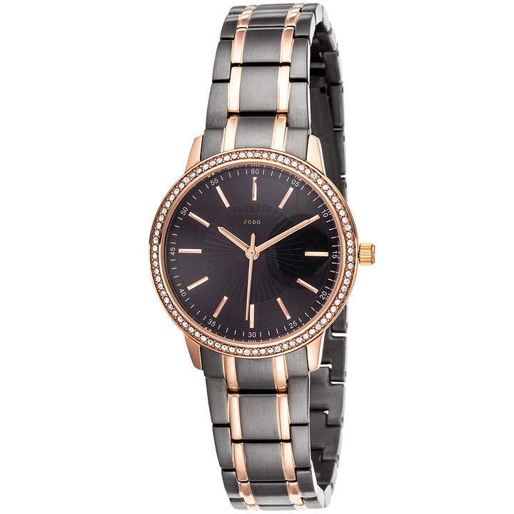 Damen Armbanduhr Quarz Analog Edelstahl bicolor mit SWAROVSKI® ELEMENTS
