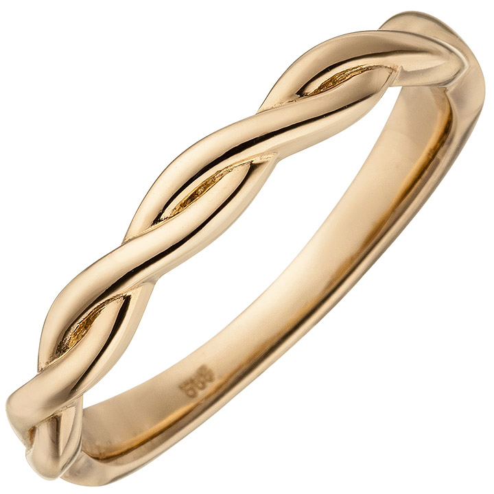 Damen Ring geflochten 585 Gold Rotgold Rotgoldring