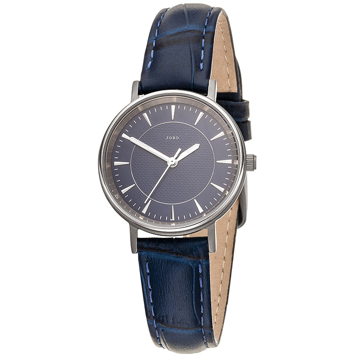 Damen Armbanduhr Quarz Analog Titan Lederband blau Damenuhr