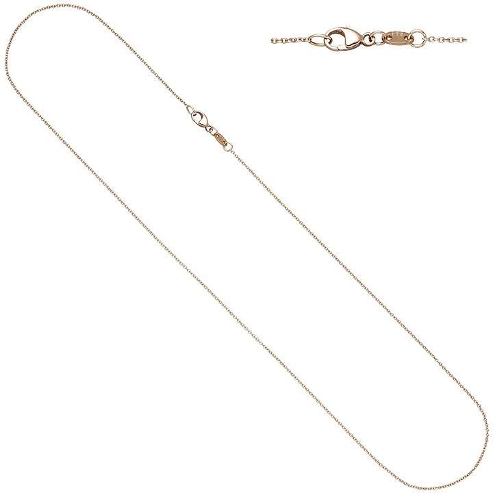 Ankerkette rund 585 Gold Rotgold 1,0 mm 45 cm Kette Halskette Rotgoldkette