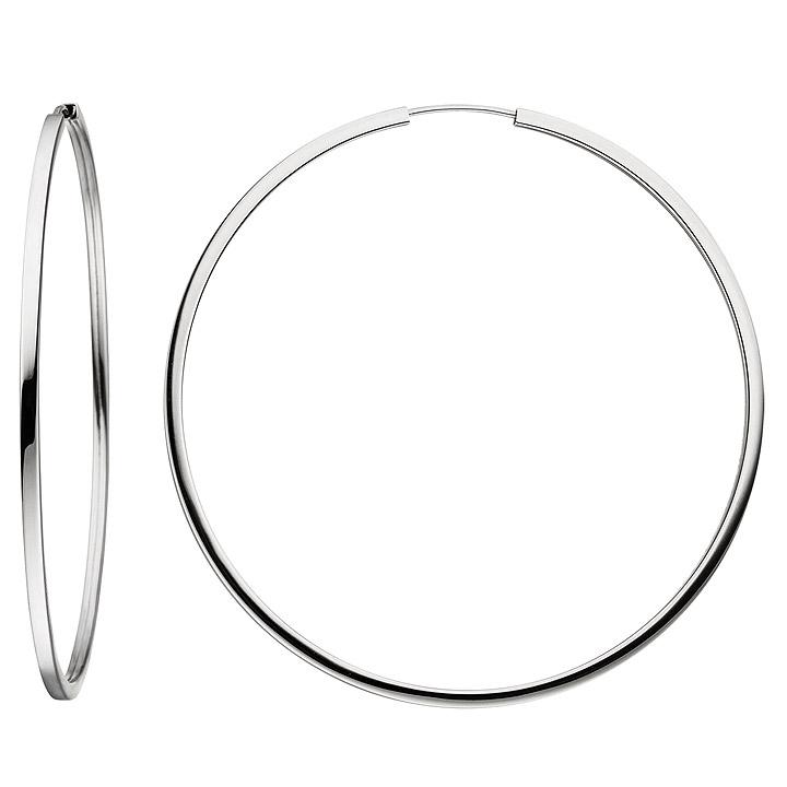 Creolen groß 925 Sterling Silber Ohrringe Durchmesser 64 mm