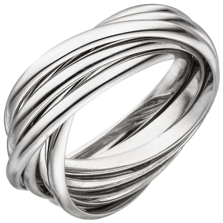 Damen Ring verschlungen 925 Sterling Silber Silberring