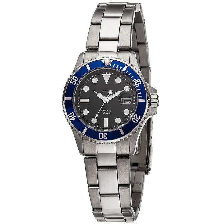 Damen Armbanduhr Quarz Analog Edelstahl mit Datum