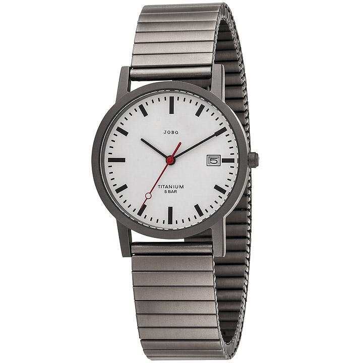 Herren Armbanduhr Quarz Analog Titan Flexband mit Datum