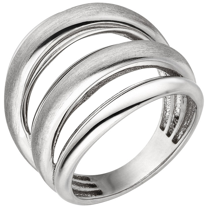 Damen Ring mehrreihig 925 Sterling Silber Silberring