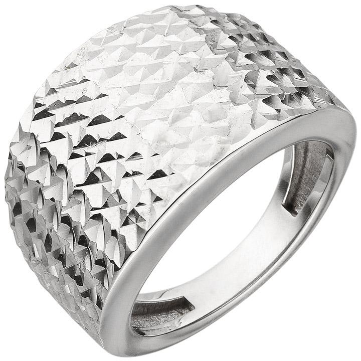 Damen Ring breit 925 Sterling Silber mit Struktur Silberring