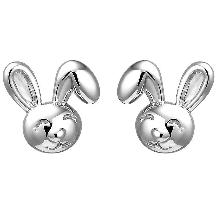 Kinder Ohrstecker Hase 925 Sterling Silber Ohrringe Kinderohrringe