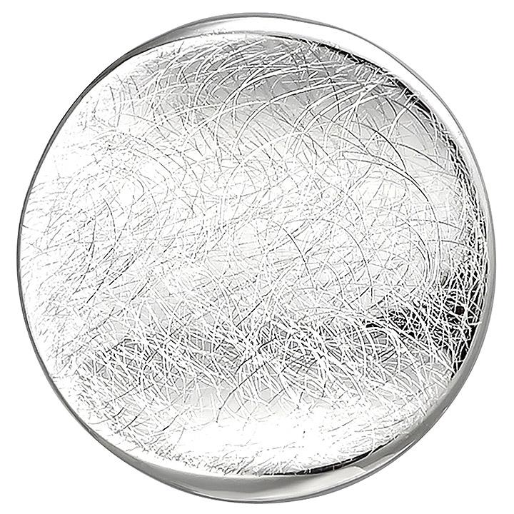 Anhänger rund 925 Sterling Silber eismatt Silberanhänger