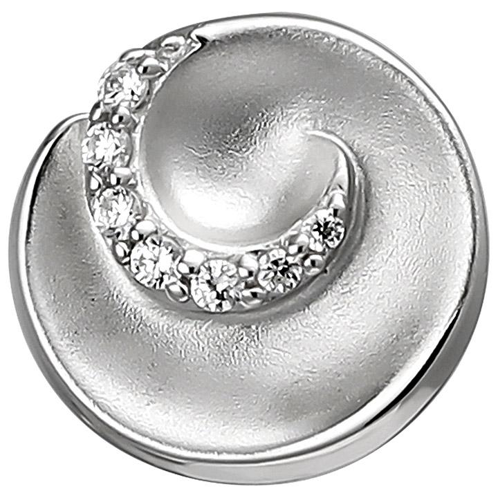 Anhänger 925 Sterling Silber matt 7 Zirkonia Silberanhänger