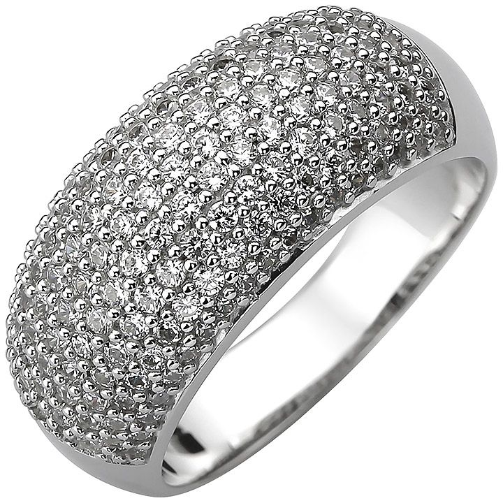 Damen Ring 925 Sterling Silber 158 Zirkonia Silberring