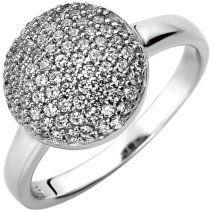 Damen Ring 925 Sterling Silber 78 Zirkonia Silberring