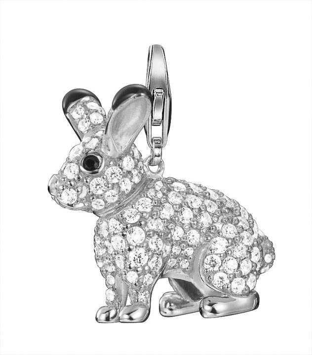 Charm 925 Silber Polar rabbit XL