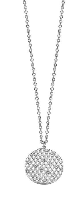 Kette 925 Silber Lattice glam Zirkonia