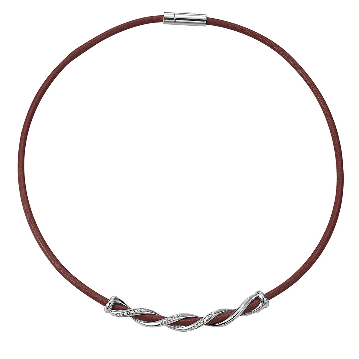 Kette 925 Silber swiveled red Zirkonia