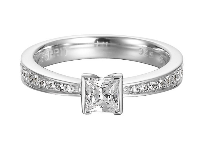 Ring 925 Silber Solitaire Zirkonia, 53 - 16,9
