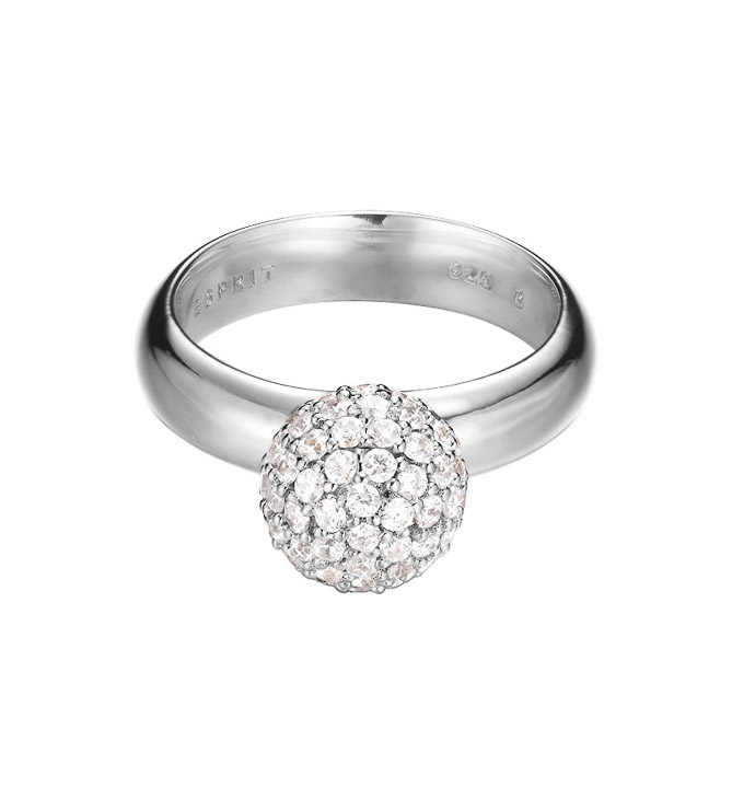 Ring 925 Silber Glam sphere Zirkonia, 53 - 16,9