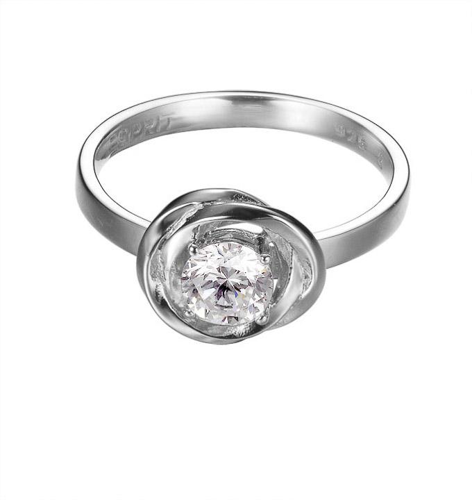 Ring 925 Silber Solotwist Zirkonia, 50 - 15,9